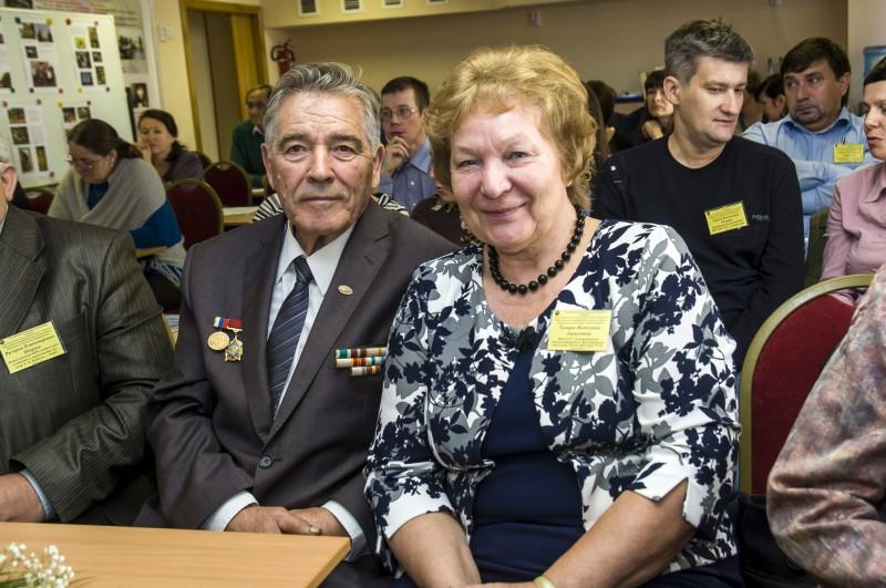 Ю. П. Мельцов и Т. Я. Ашихмина на конференции. Фото Рыловой Т. Ю.