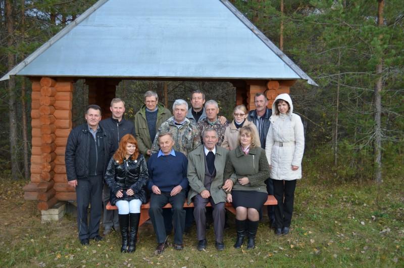 Коллектив заказника Былина  с гостями. Фото Усковой Т. М.