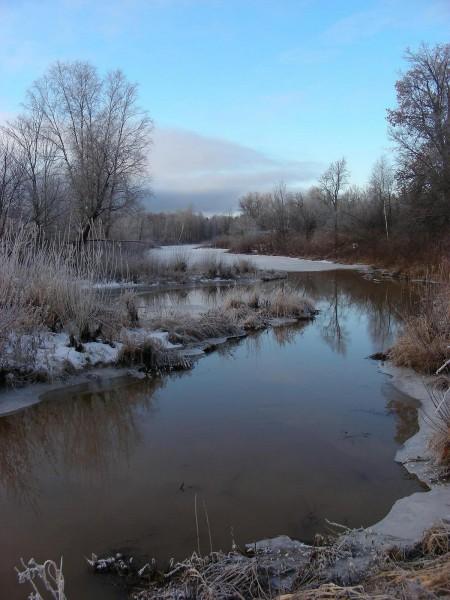 Река Прость в ноябре. Фото Кондруховой С.В.