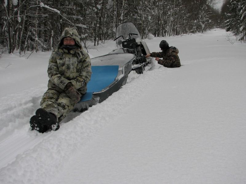 К февралю 2015 г. снеговой покров достиг 146 см. Фото В.М. Рябова