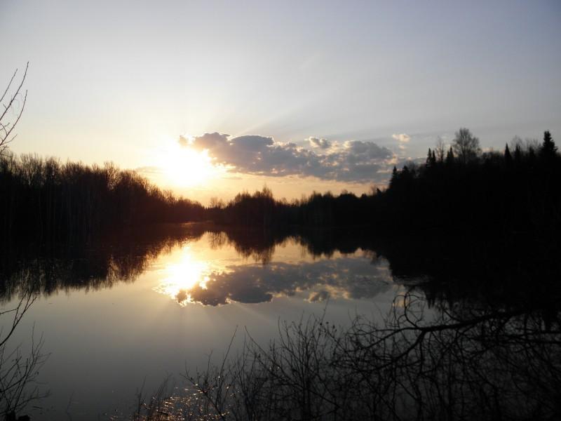 Восход на оз. Нургуш. Фото Л.Г. Целищевой