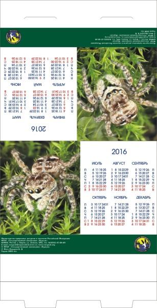 Календарь. ДОМИК ПАУК 2016. Печать