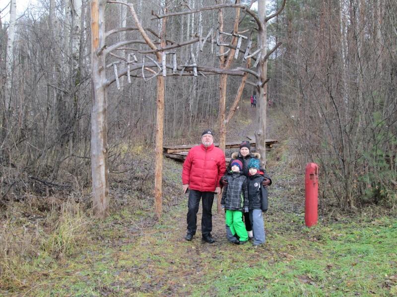 Семейная экскурсия на Тропе Йети. Фото Ю. С. Рогожкиной