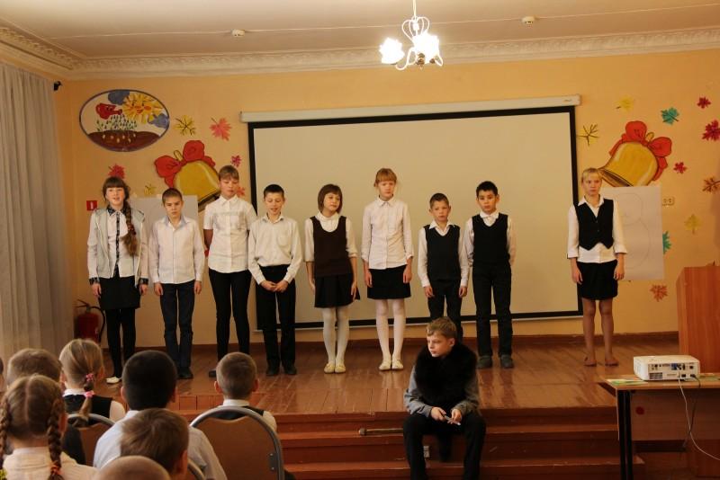 Сценка о бобре в исполнении учеников 6-го класса. Фото Е. В. Князевой