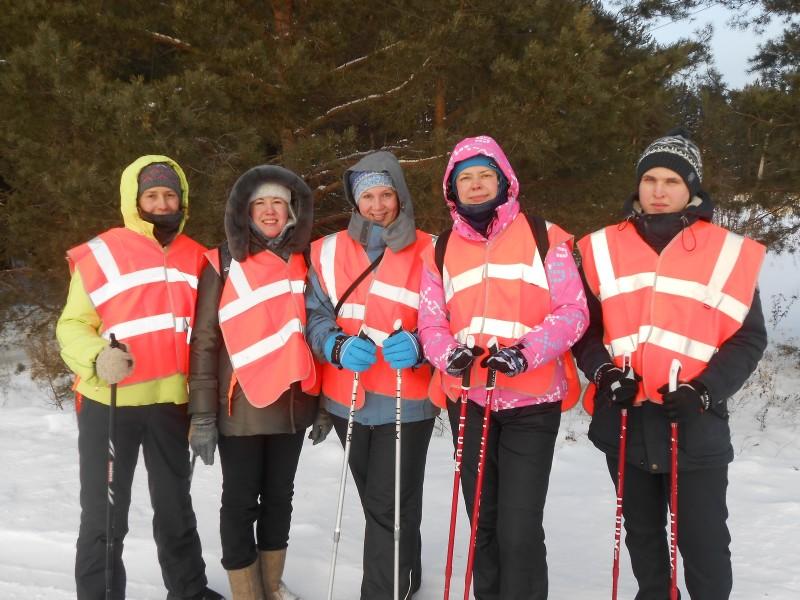 Фитнес-подгруппа на маршруте. Фото Ю. С. Рогожкиной