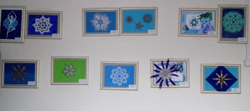 Выставка детских творческих работ Зимнее Кружево. Фото Н. А. Ожегова.