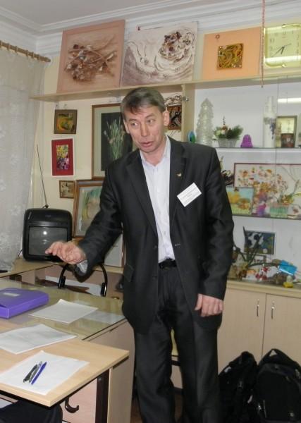 В.М. Рябов на проектном туре. Фото Л.Г. Целищевой
