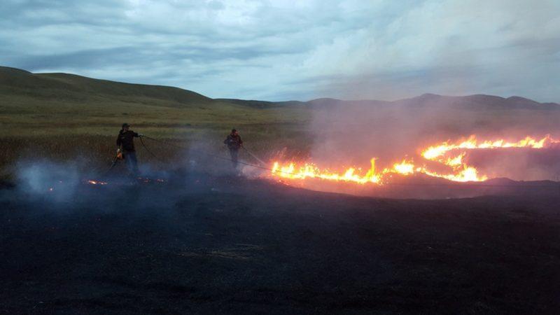 Пожар в Айтуарской степи