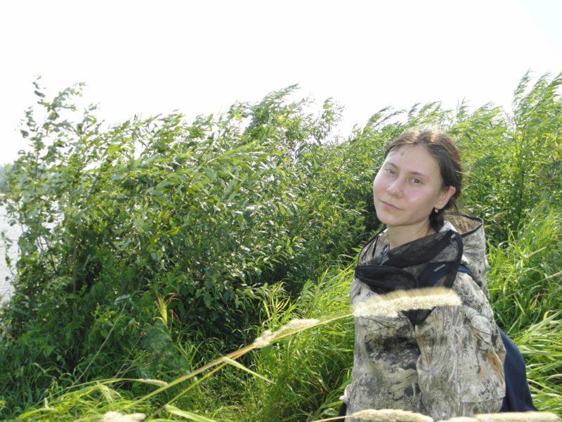 А.В. Ускова на практике в заповеднике Нургуш. Фото Л.Г. Целищевой