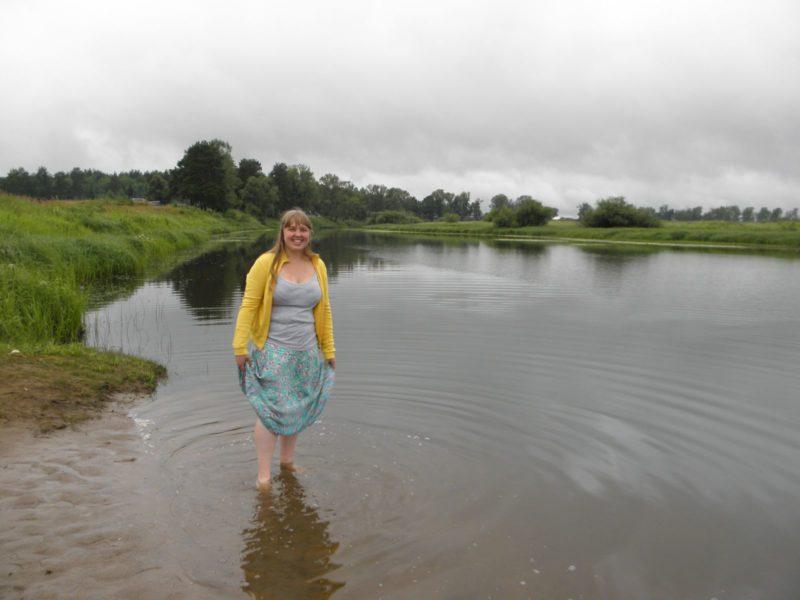 Купание на озере Старице. Фото Л. Г. Целищевой