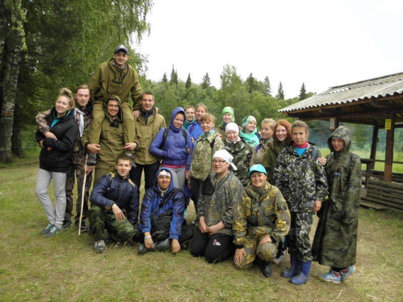 Студенты-экологи группы ЭПБ-31 на полевой практике в заповеднике Нургуш. Фото Н.А. Ожегова