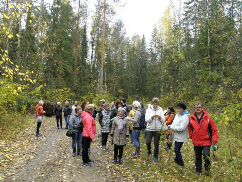Участники семинара на маршруте однодневного экологического тура в охранной зоне заповедника. Фото Л. Г. Целищевой