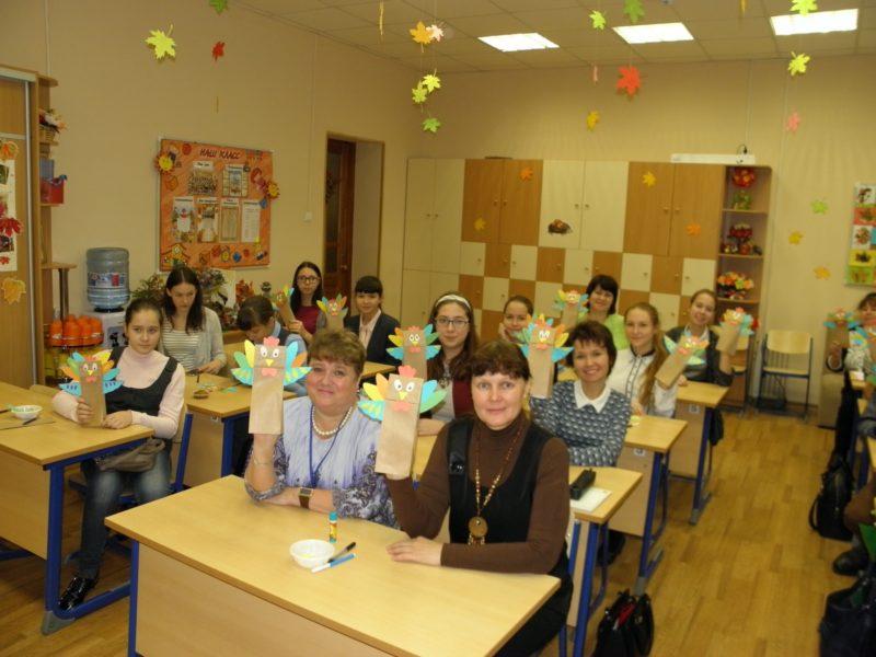 На мастер-классе Экологическое творчество. Фото С. О. Котельниковой