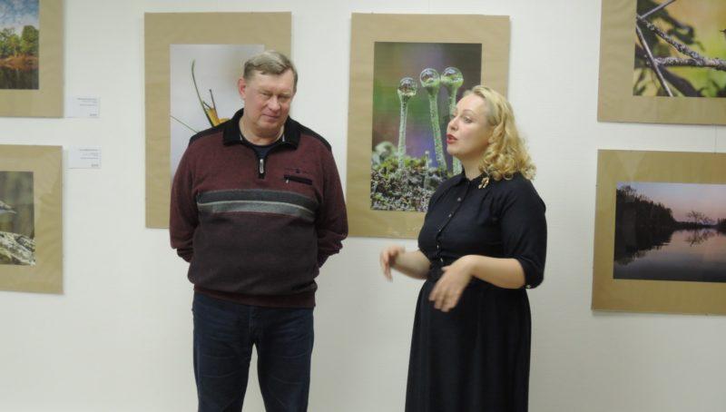 Поздравление А. А. Широких с открытием выставки. Фото Е. М. Тарасовой