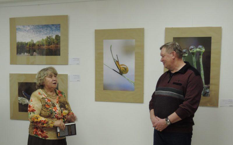Поздравление с открытием выставки. Фото Е. М. Тарасовой
