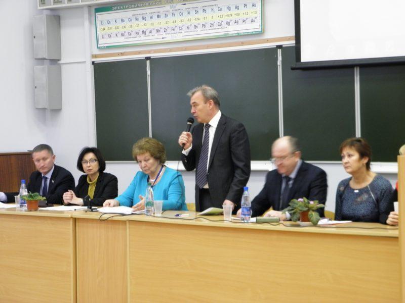 Приветствие В.Т. Юнгблюда участникам конференции. Фото Л. Г. Целищевой