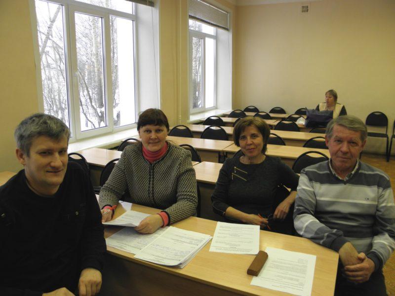 Сотрудники заповедника на областной олимпиаде. Фото Л.М. Попцовой