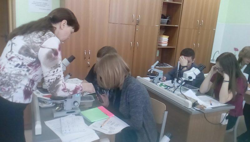 Целищева Л.Г. с учащимися на УТС. Фото Е.Н. Лимоновой