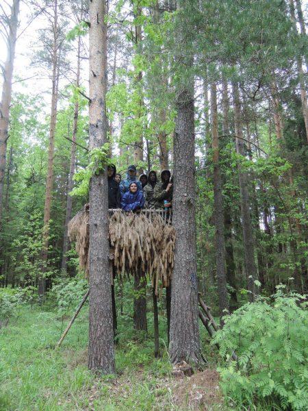 В домике на дереве. Фото Е. М. Тарасовой