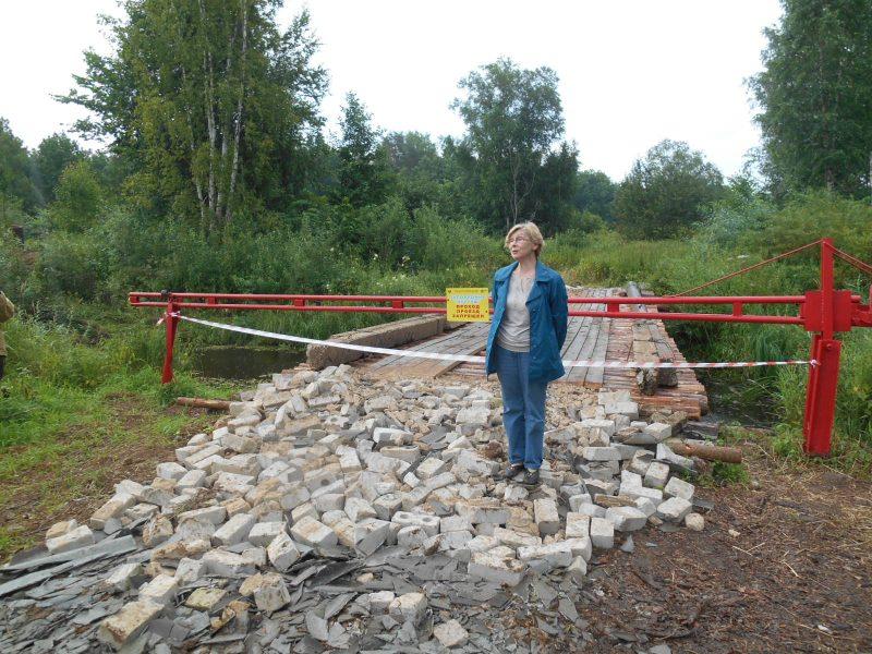 Открытие моста. Директор заповедника Е.М. Тарасова. Фото И.С. Пенкиной