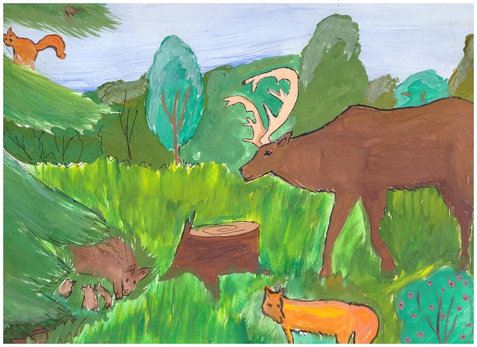нарисовать рисунок про природу родного края самом