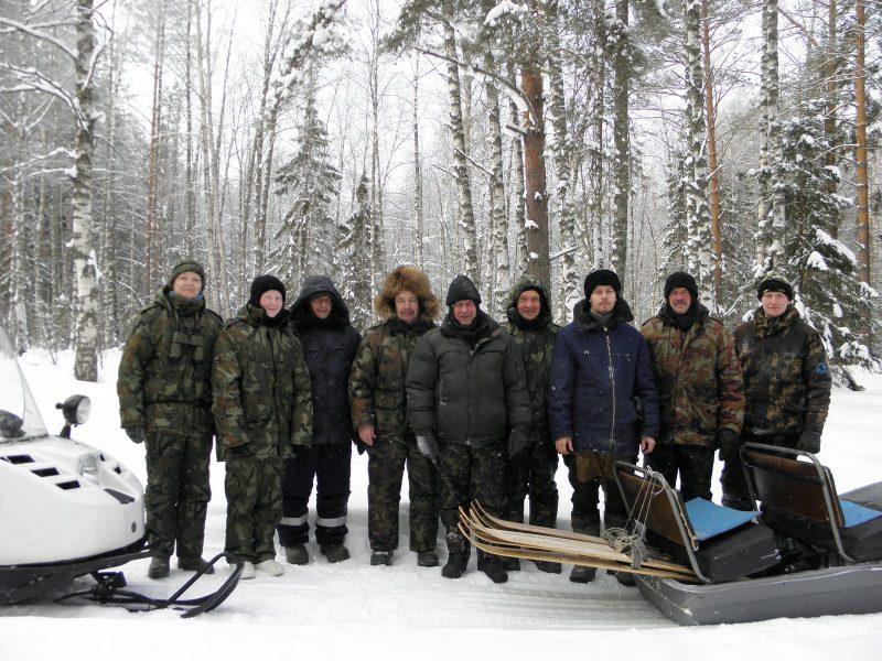 Сотрудники заповедника на ЗМУ. Фото Л.Г. Целищевой