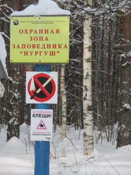 Аншлаг на границе охранной зоны. Фото Е.М. Тарасовой
