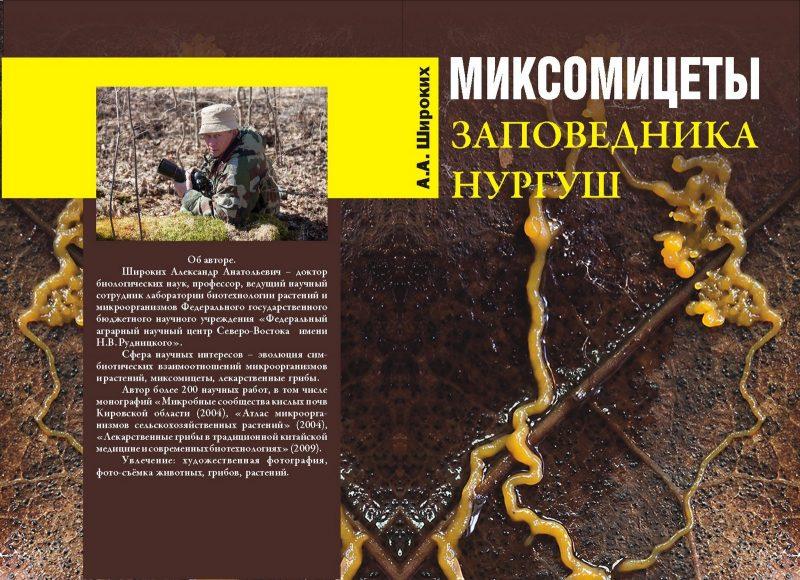 "Обложка книги ""Миксомицеты заповедника Нургуш"""