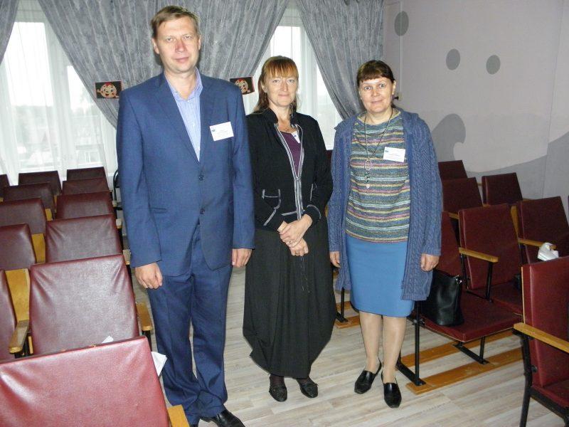 На конференции Л.Г. Целищева с московскими коллегами. Фото Ю. А. Парий