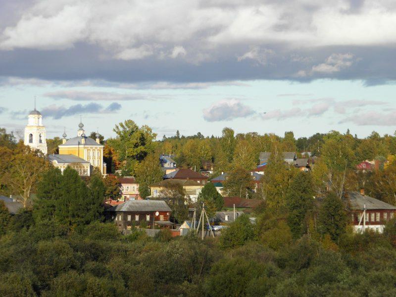 Панорама г. Кологрив с Успенским собором. Фото Л.Г. Целищевой