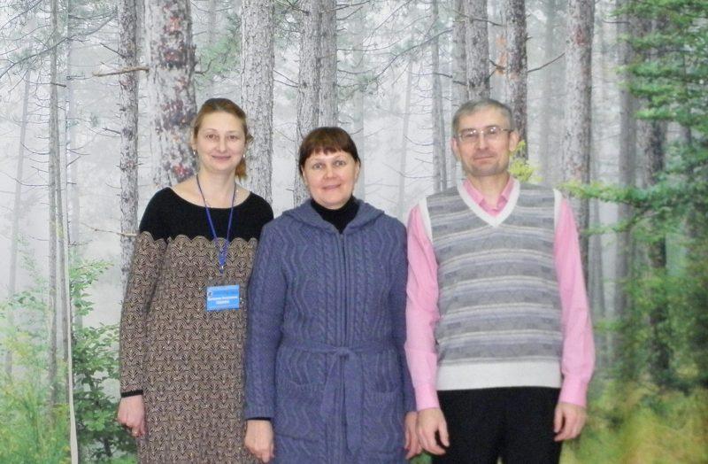 Л.Г. Целищева с коллегами из заповедника Большая Кокшага