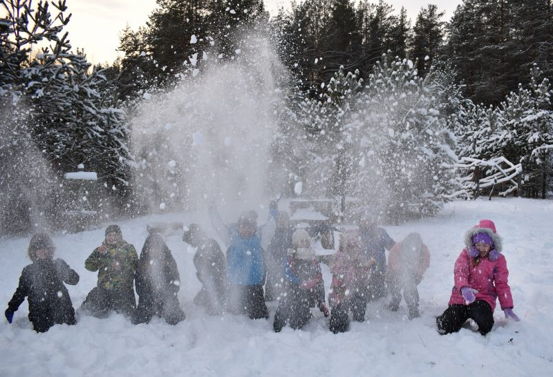 Снегопад. Фото Н. С. Рычковой