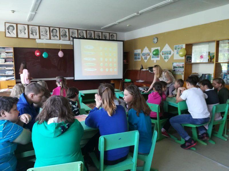Учащиеся школы отвечают на вопросы викторины. Фото А.В. Стародубцевой