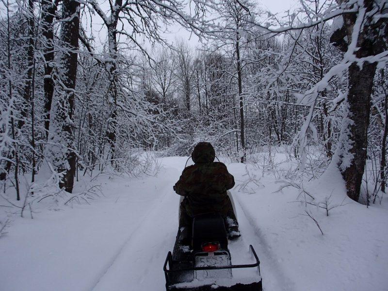 Рейд на снегоходе. Фото Н. А. Ожегова