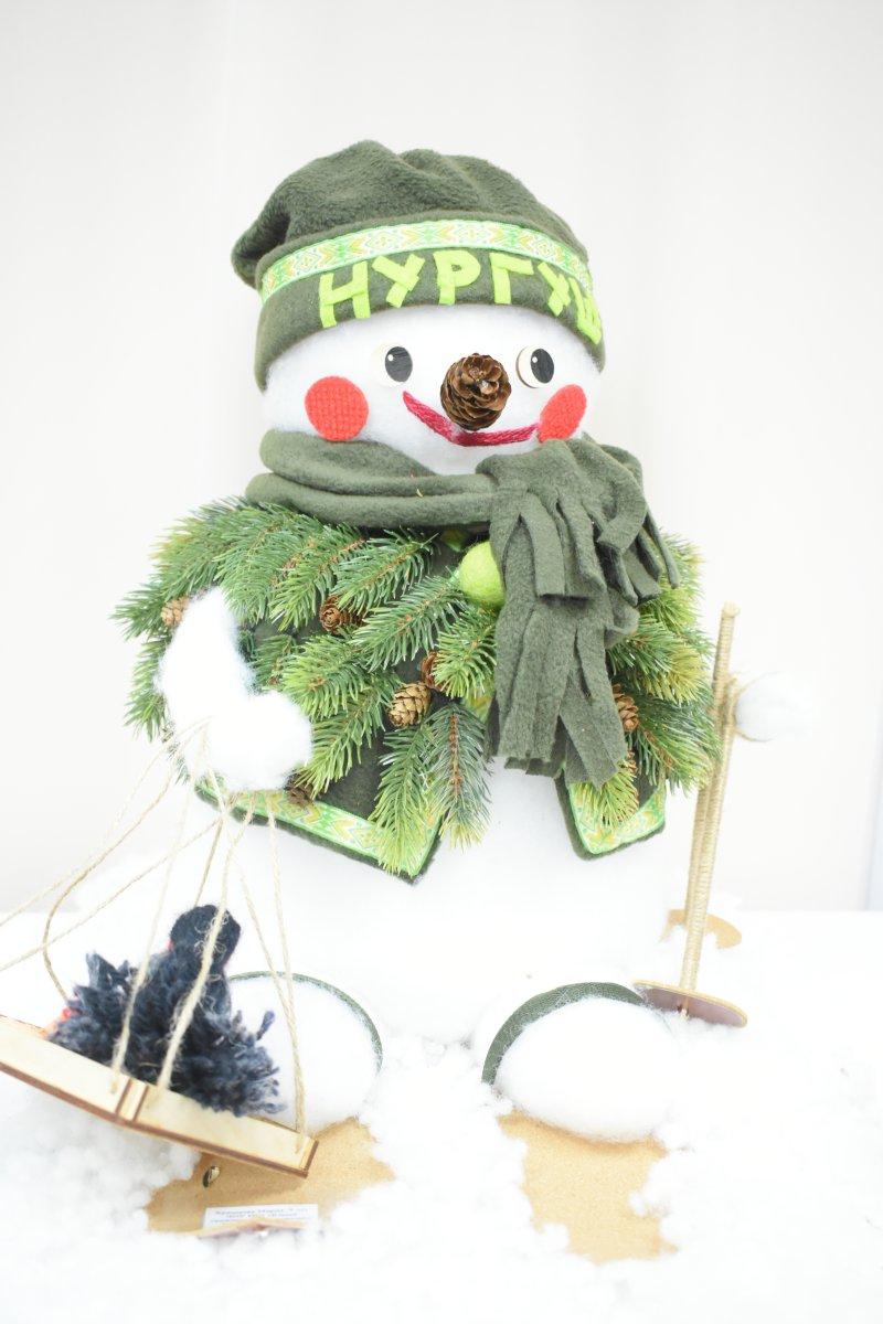 Выставка Снеговик - Работа М.Храмцовой. Фото Н.С. Просоврниной
